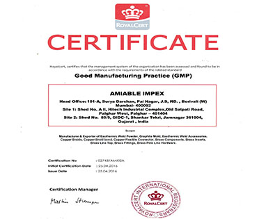 Exothermic-Welding-Certificates-GMP-Amiable